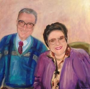 """Anna & Mattia"" - SOLD Acrylic on canvas 60cm x 60cm"