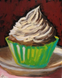 """Whipped Cream"" Acrylic on Canvas 40cm x 50cm $450"