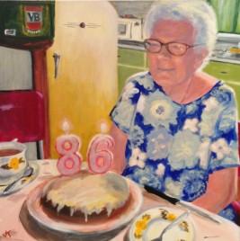 """""""Edna"""" Acrylic on canvas 61cm x 61cm"""