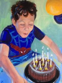 """Spiderboy"" Acrylic on canvas 30 x 40cm SOLD"