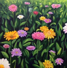 """Field of Dreams"" Acrylic on Canvas 762mm x 762mm $950"