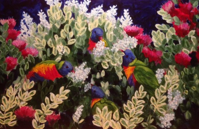 """Gluttony"" Acrylic on Canvas 914mmx 610mm $950"