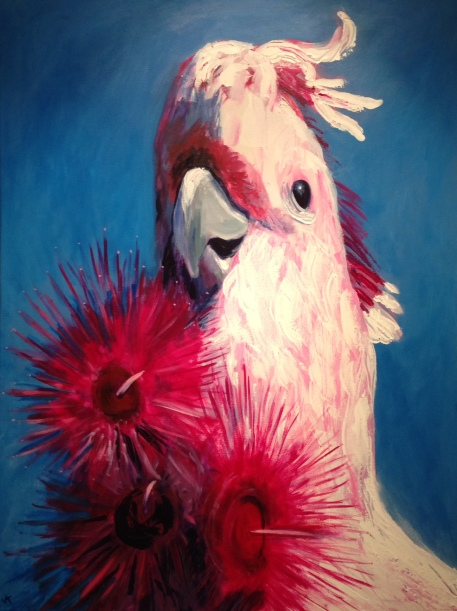 """""""I Want More!"""" Acrylic on Canvas 1016mm x 762mm SOLD"""