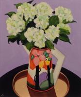 """Hydrangea in Clarice Cliff Jug"" Acrylic on Canvas 610mm x 508mm SOLD"