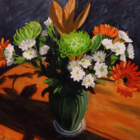 """""""A Mixed Bunch"""" Acrylic on Canvas 61cm x 61cm $950"""