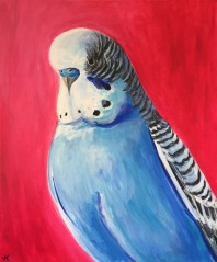 """Blueboy"" Acrylic on Canvas 610mm x 508mm SOLD"