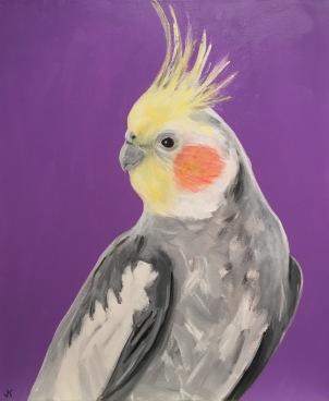 """Blush"" Acrylic on Canvas 610mm x 508mm SOLD"