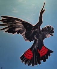 """Flying High"" Acrylic on Canvas 610mm x 508mm SOLD"