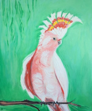 """Mohawk"" Acrylic on Canvas 610mm x 508mm $650"