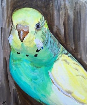 """""""Peter"""" Acrylic on Canvas 310mm x 250mm SOLD"""