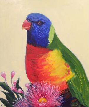 """Rai"" Acrylic on Canvas 610mm x 508mm $650"