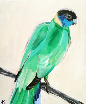 'Ringneck' Acrylic on Canvas 310mm x 250mm $350