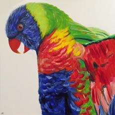 """""""Squawk!"""" Acrylic on Canvas 762mm x 762mm SOLD"""