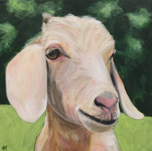 'Are You Kidding?' Acrylic on Canvas 300mm x 300mm $400