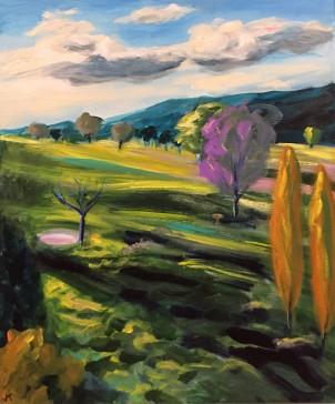 'Binda Sunset' Acrylic on Canvas 610mm x 508mm $700