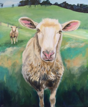 'Ewe Are You?' Acrylic on Canvas 610mm x 508mm SOLD