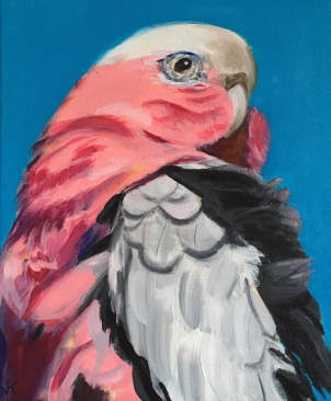 'Fifty Shades of Pink and Grey' Acrylic on Canvas 300mm x 250mm $400