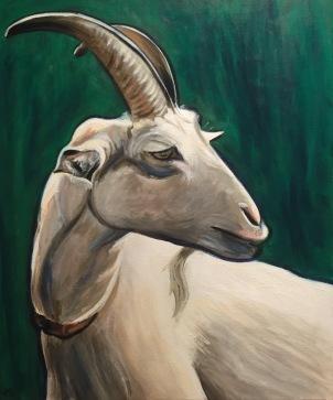 'Goatee' Acrylic on Canvas 610mm x 508mm $700