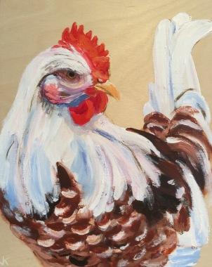 'Henrietta' Acrylic on Birch Panel 250mm x 200mm $350
