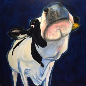 'Mooney' Acrylic on Canvas 910mm x 910mm $1400