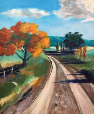 'Road to Binda' Acrylic on Canvas 610mm x 508mm $700