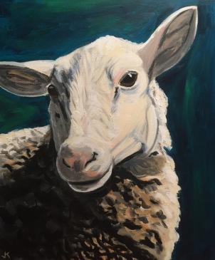 'Sheepish' Acrylic on Canvas 610mm x 508mm $700