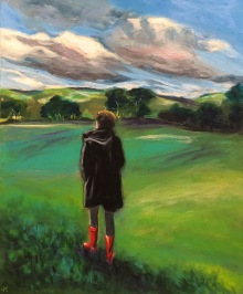 'Those Boots Were Made for Walking' Acrylic on Canvas 610mm x 508mm SOLD