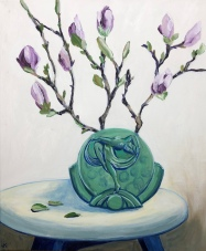 Magnolias in Art Deco Vase_John Klein_2018