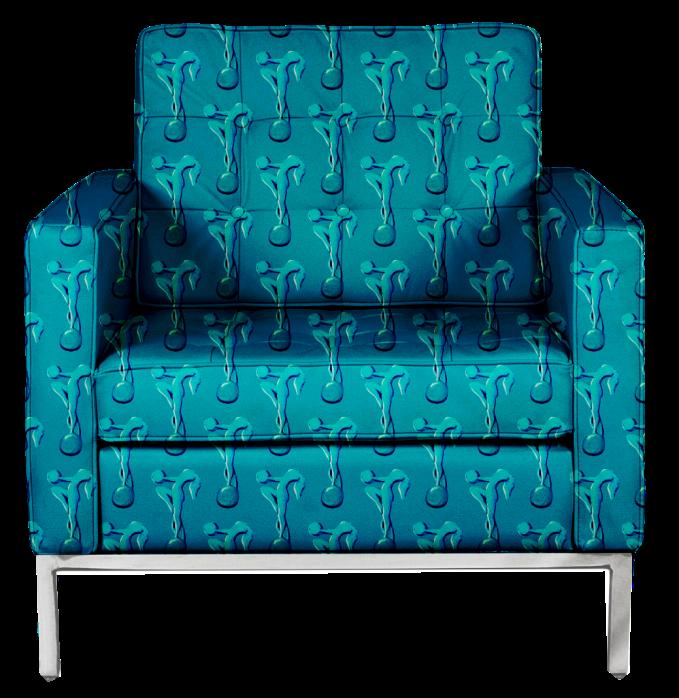 Blue Figure Chair